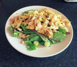 Scrambled Egg   Salmon   Salad