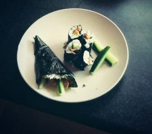 Salmon & Cucumber Sushi
